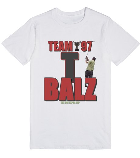 T Balz White T